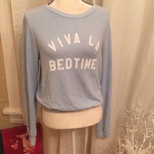 "Wildfox Sz Small ""viva la bedtime""soft sweater"